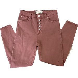 Altar'd State Rose Pink Skinny Jeans